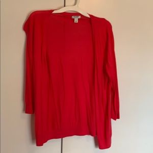 3/4 sleeve coral cardigan from Old Navy (not red!)